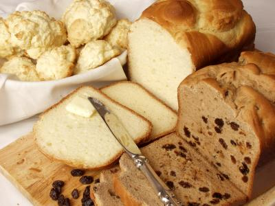 Breads and Grains (Includes buns, croissants, cereal, and pasta!